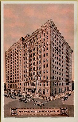 Exterior Street View Old Cars New Hotel Monteleone New Orleans LA Postcard B11