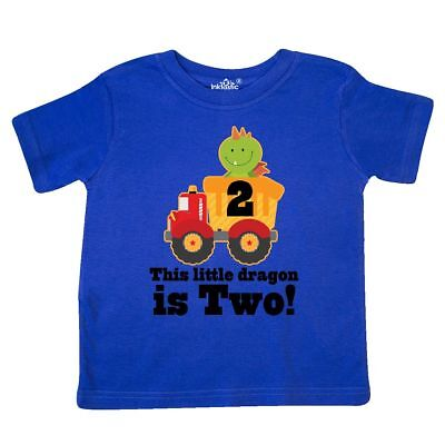 Inktastic Dragon 2nd Birthday Dump Truck Toddler T Shirt Happy 2 Year Old Two