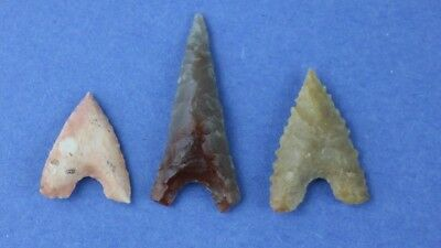 3 Fine Egyptian Points - Colorful - Authentic