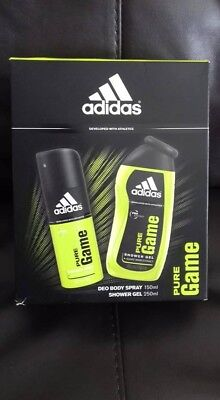 Adidas Pure Game Deo Body Spray and Shower Gel Duo Gift Set - New (other)