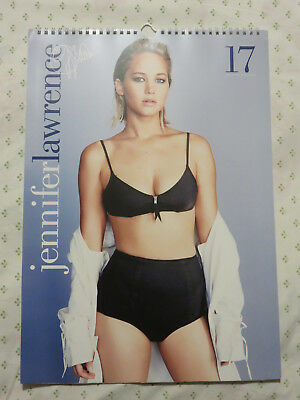 Jennifer Lawrence 2017 Wall Calendar A3 Size Used