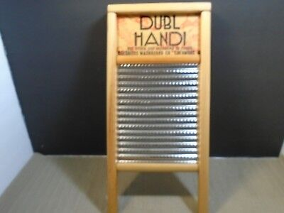 """Vintage Columbus Washboard Company Galvanized Steel & Wood 18"""" x 8 1/2"""" preowned"""