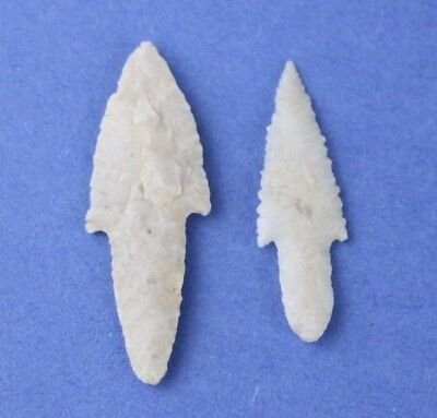 2 Sahara Neolithic Long Stemmed Points - Authentic