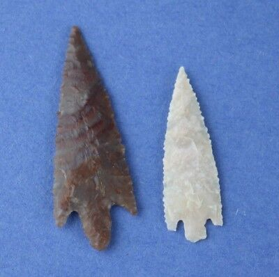"2 Sahara Neolithic Stemmed Points - 2"" Long - Authentic"