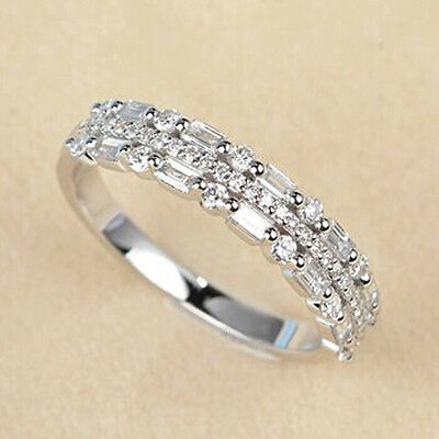 Ring Engagement Diamond Women Wedding Alloy Gemstone Birthstone Wholesale