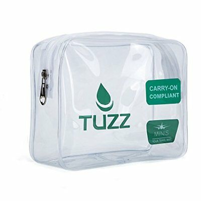 TUZZ TSA Approved Clear Travel Toiletry Bag Quart Bags With Zipper For Men Wo...