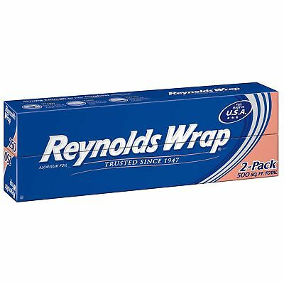 """Reynolds Wrap 12"""" Aluminum Foil, 250 sq. ft (2 ct.)*BEST PRICE AND SERVICE IN US"""