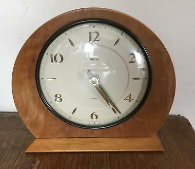 Vintage Smiths Mantle clock 8 Day Floating Balance, Made in Great Britain