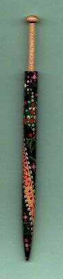 """""""merry Christmas 1993"""" Wood Honiton  Lace Bobbin By Barry Biggins"""