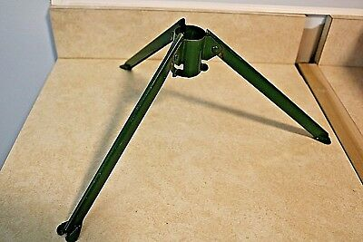 """Vintage Green Folding Christmas Tree Tripod Stand with 1.25"""" opening"""