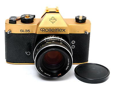 Rolleiflex SL35  GOLD CANADA EDITION 24 Karat with SL Planar 1.8/50mm HFT