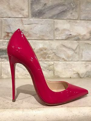 898882afe35f NIB Christian Louboutin So Kate 120 Pink Rosa Patent Leather Heel Pump Shoe  36.5