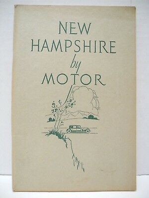 1940's New Hampshire By Motor 64-page Guidebook Travel Booklet