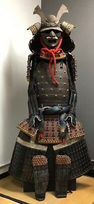 A set of Japanese Antique Lacquer Samurai Yoroi Armor