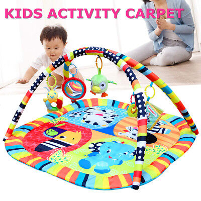 3 IN 1 Baby Infant Crawling Activity Playmat Musical Blanket Baby Exercise Mat