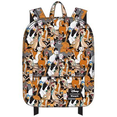 NWT LOUNGEFLY DISNEY The Aristocats Character Print Nylon Backpack
