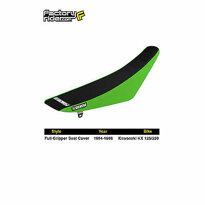 1994-1998 KAWASAKI KX 125-250 Green/Black FULL GRIPPER SEAT COVER by Enjoy Mfg