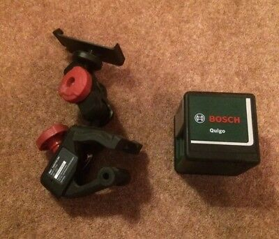 Bosch Quigo Self Levelling Cross Line Laser Level & Multi Clamp New Other