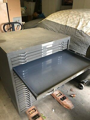 Printers Metal Cabinet, Can Be Delivered Or Shipped