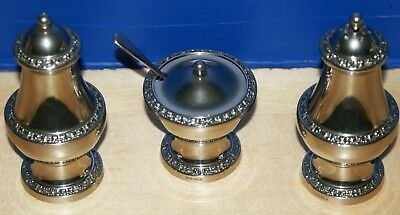 Silver Plated Cruet Set Made In England Ianthe VGC