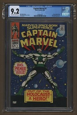 Captain Marvel #1 1968 CGC 9.2 White Pages 1st Series Mar-Vell Avengers Infinity