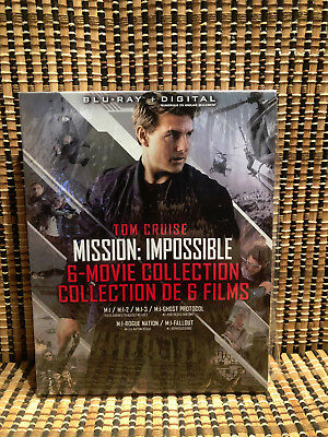 Complete Mission Impossible 1-6+Fallout (7-Disc Blu-ray, 2018)+Slipcover.Cruise