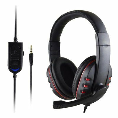 3.5mm Gaming Headset MIC Stereo  Headphone for PC Mac Laptop PS3 PS4 Xbox one ~Y