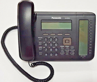Panasonic KX-NT553 Executive IP telephone, 12 months wty, tax invoice GSTinc
