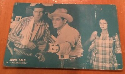 "Eddie Polo In "" Cyclone Smith "" 1928 Western Arcade Exhibit Post Card Nice"