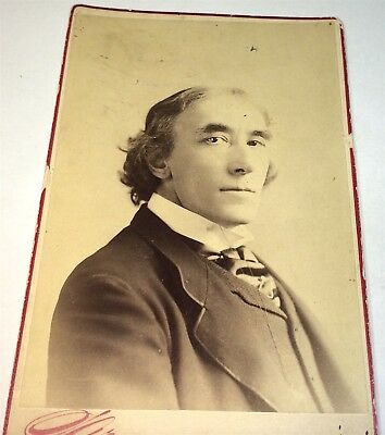 Rare Antique Victorian American Famous Actor Henry Irving! NY Cabinet Photo! US!