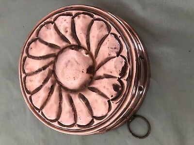 Vintage Copper Jelly Mould with hanging ring- (England)