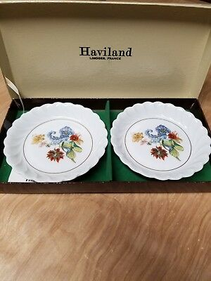Haviland Limoges France china butter nut candy dish plate in box