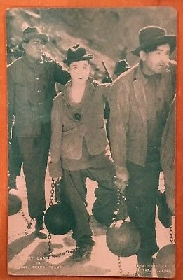 "Harry Langdon "" Tramp Tramp Tramp "" 1928 Western Arcade Exhibit Post Card Nice"