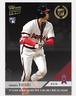 2018 Topps Now Moment of the Year #4 GOLD WINNER #MOY4 SHOHEI OHTANI RC Rookie