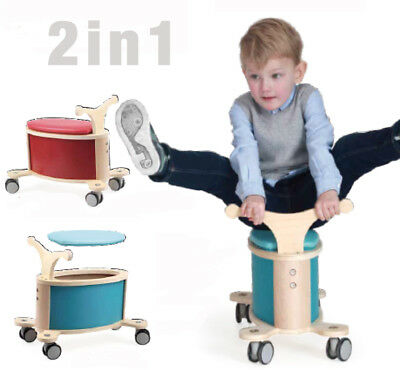 Varoom 2in1 Kids Ride On Toy Storage Boys Girls Wooden Toys Rotational