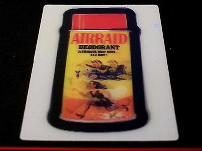"2008 Wacky Packages Flashback Series 1 {Fb1} ""airraid Deodorant"" Motion Card #1"