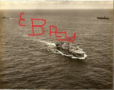 Wwii Us Navy Huge 11X14 Photo Of The U.s.s. Chenango Cve-28 Aerial Flight Deck