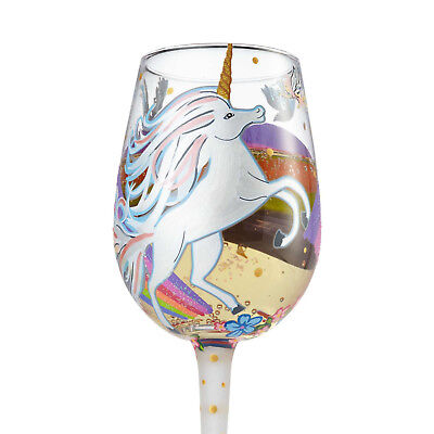 LOLITA Love My Wine Glass UNICORN 15oz Glass*Brand New In Box*Ships Free********