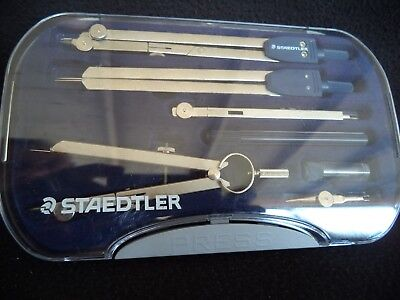 Staedtler Drafting Drawing Compass Set 55909 Made In Italy