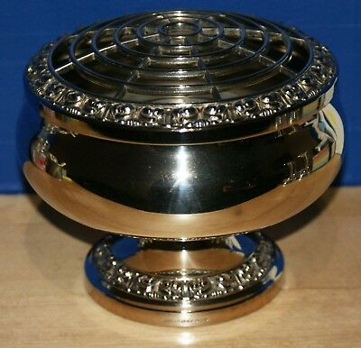 Silver Plated Rose Bowl Vase Ianthe Made In England Large VGC