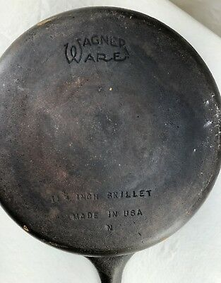 Cast-Iron Wagner Ware 11 3/4 Inch Skillet Frying Pan made in U.S.A.