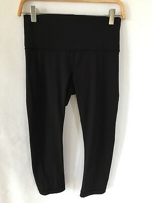 5d814275f8d37b LULULEMON BLACK SPORT Cropped Athletic Leggings - size 8 - $59.99 ...
