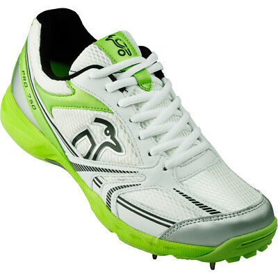 Kookaburra pro 750 Spike Bambini Junior Cricket Scarpa Bianco/Verde - UK 4