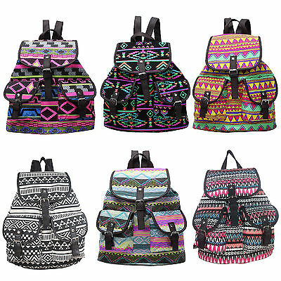 Backpack Ladies Girls Women Print Bag Medium Large Rucksack School Gym Travel US
