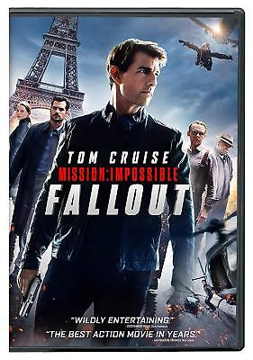 🔥 Mission: Impossible - Fallout (DVD) 2018 - Fast Free US Shipping 🔥
