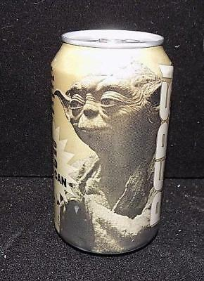 A8390 GOLD DIET PEPSI CAN vintage Star Wars YODA EPISODE SEALED EMPTY 1999