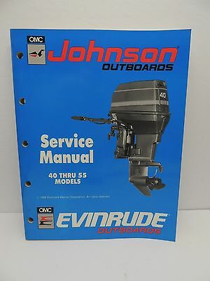 1990 Johnson OMC Outboard Service Repair Manual 25 40 45 48 50 55 HP