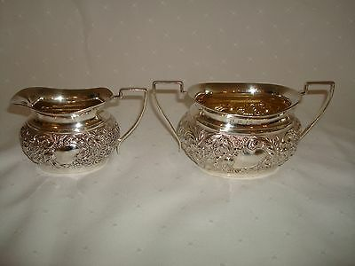 Antique Sterling Silver Cream & Sugar Cooper Bros. Birmingham 1900 Hallmarked