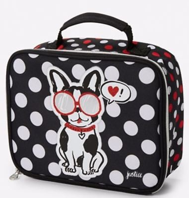 NWT Justice Pawsitivity Puppy Dog 2 Sided School Insulated Lunch Box Tote NEW