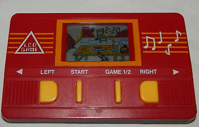 ****vintage Cat & Mouse Lcd Electronic Handheld Game And Time****